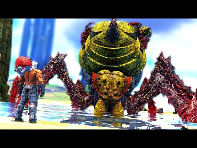 The TITAN BROOD QUEEN is CHARGING to ATTACK my BASE! | ARK MEGA Modded #46