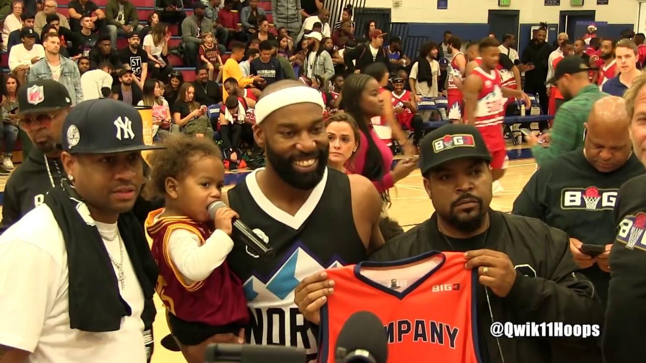 pretty nice 375b9 c1f7e Allen Iverson & Ice Cube Welcome Baron Davis to the Big 3!
