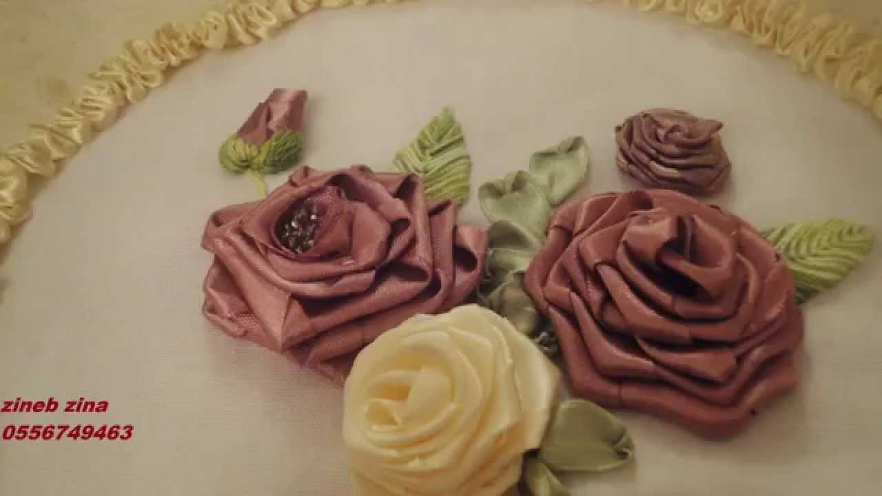 broderie floral - YouTube