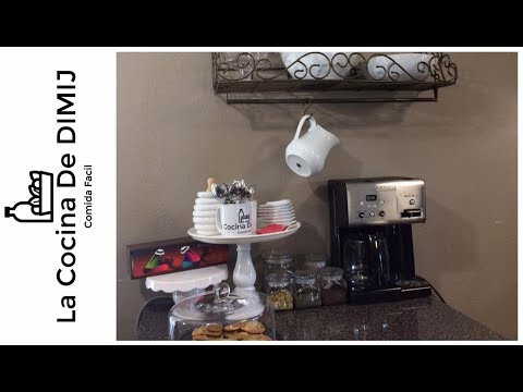 Como organizar una area para cafe o te estacion de cafe for Como montar una cafeteria