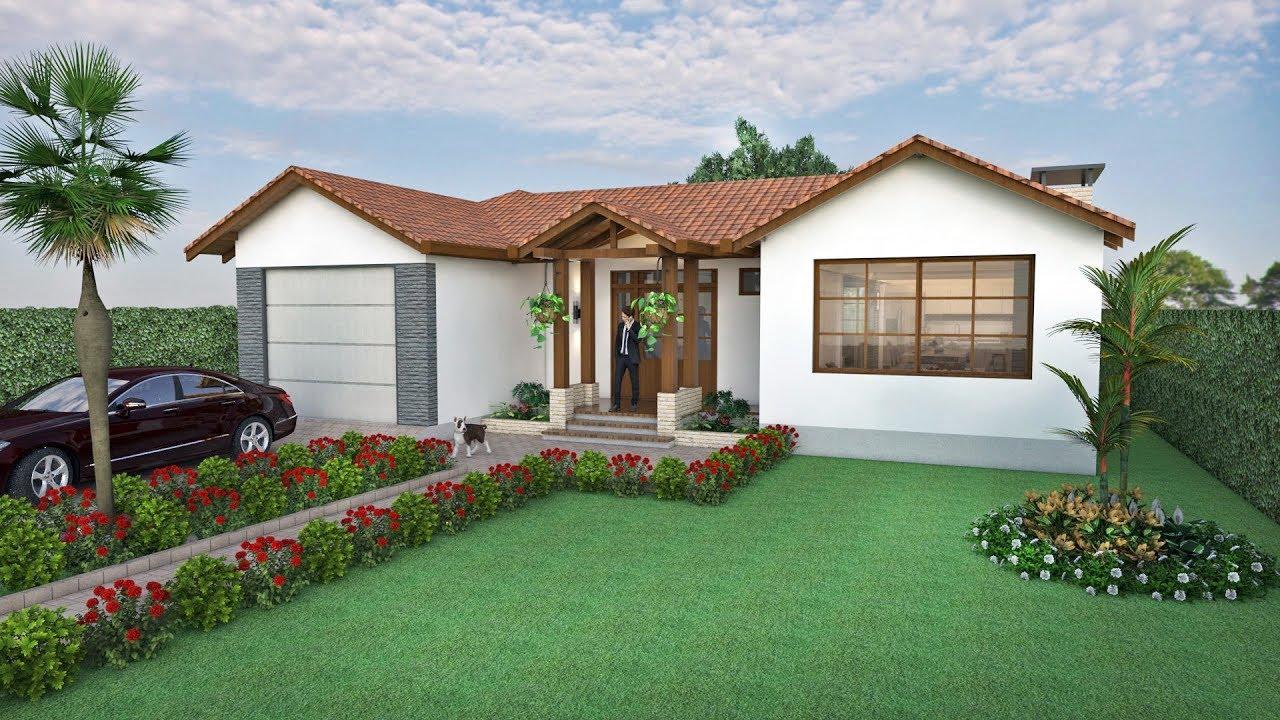 Dise o casa de campo en un piso de 293 m2 arquitecto for Disenos de casas campestres modernas