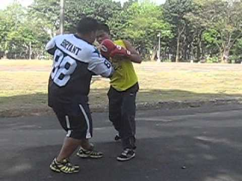 PHYSICAL FITNESS THRU BOXING EXERCISE IN THE QUEZON CITY ELLIPTICAL CIRCLE, PHILIPPINES