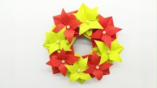 DIY Christmas Wreath for Upcoming Christmas | Wall Hanging Craft Ideas - Wreath Making With Flowers
