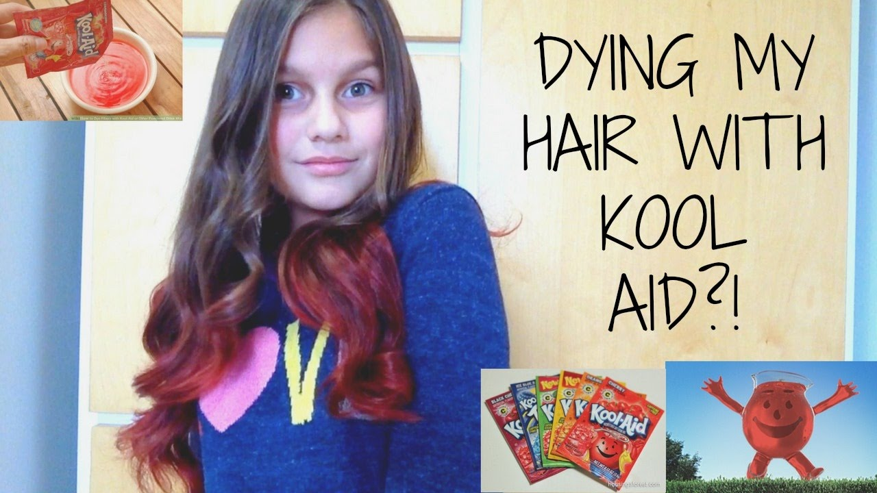 How To Dye Your Hair With Kool Aid Itscansu Youtube