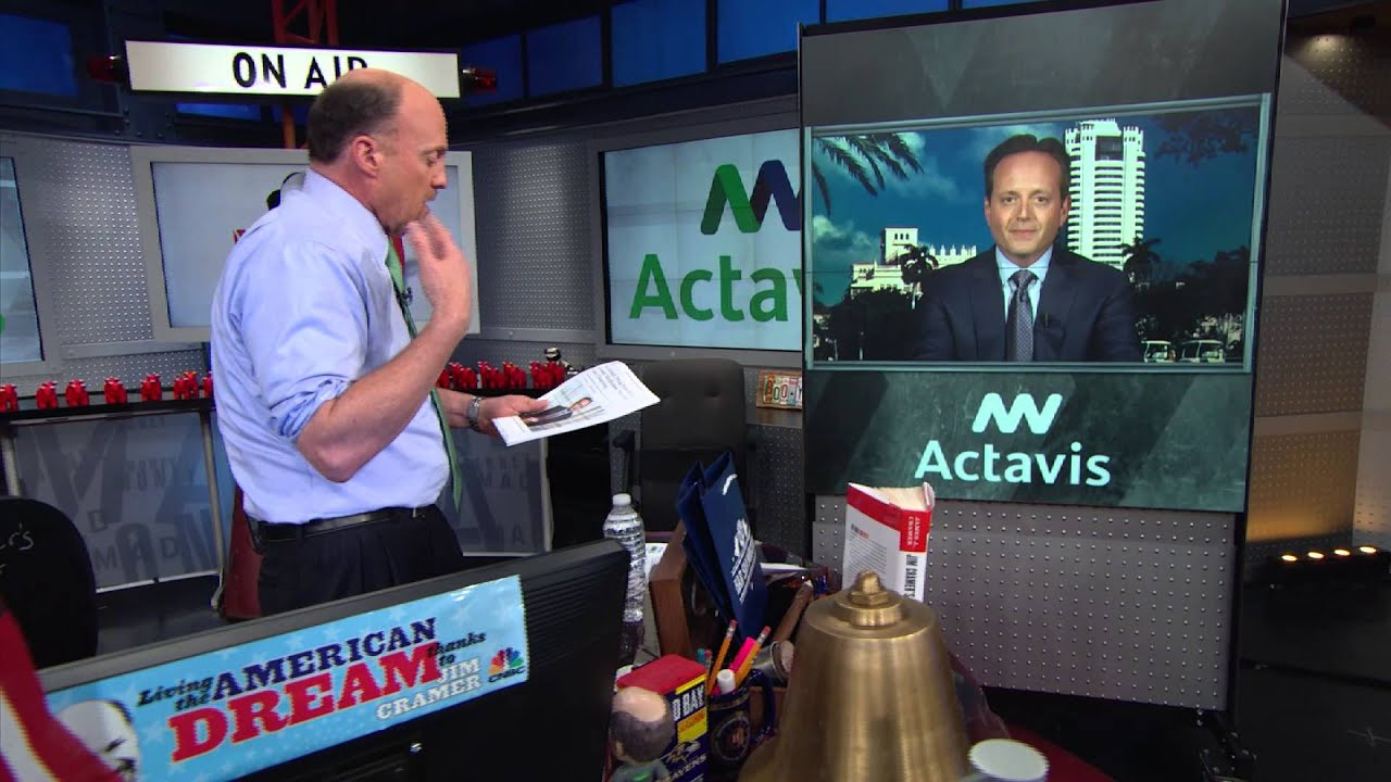 Actavis CEO Brent Saunders | Mad Money | CNBC - YouTube