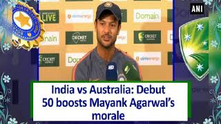 Mayank Agarwal Back to Back Test Fifty in two test  Debut Match VsAustralia