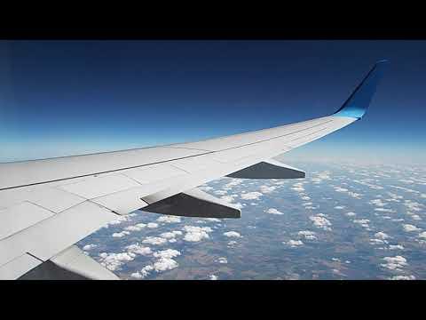 Полет из Минеральных Вод в Москву. Boeing 737-800. Авиакомпания Победа
