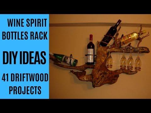 DIY Driftwood wine/spirit bottle rack/holder for your Home Decor