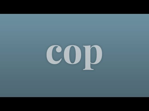 Cop - Merriam-Webster Ask the Editor - YouTube