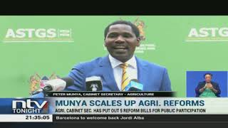 CS Munya puts up five reform bills for public discussion