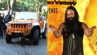 Gurmeet ram rahim singh in his expensive car at msg 2 movie song launch.