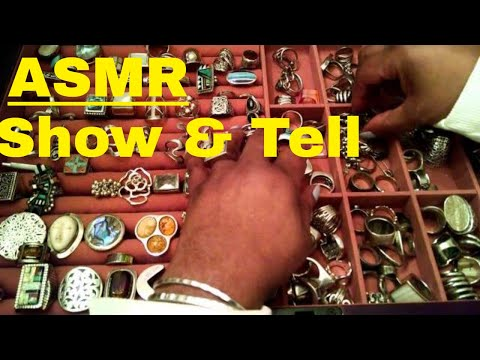 ASMR Ring & Earring Collection (whispering, light gum chew)