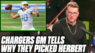 Pat McAfee Asks Chargers GM What They Saw In Justin Herbert
