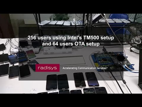 256 users using Intel's TM500 setup and 64 users OTA setup