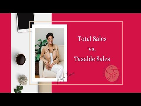 Texas Sales Tax Return:  Total Sales Vs. Taxable Sales
