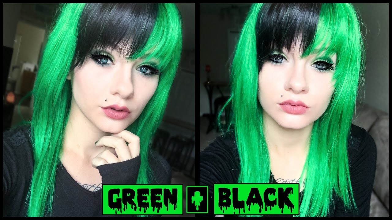 Dying My Hair Green Amp Black How To Dye A Wig