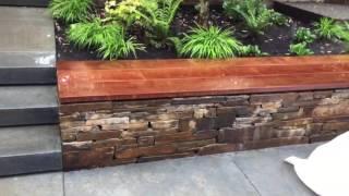 Montana rustic seat wall