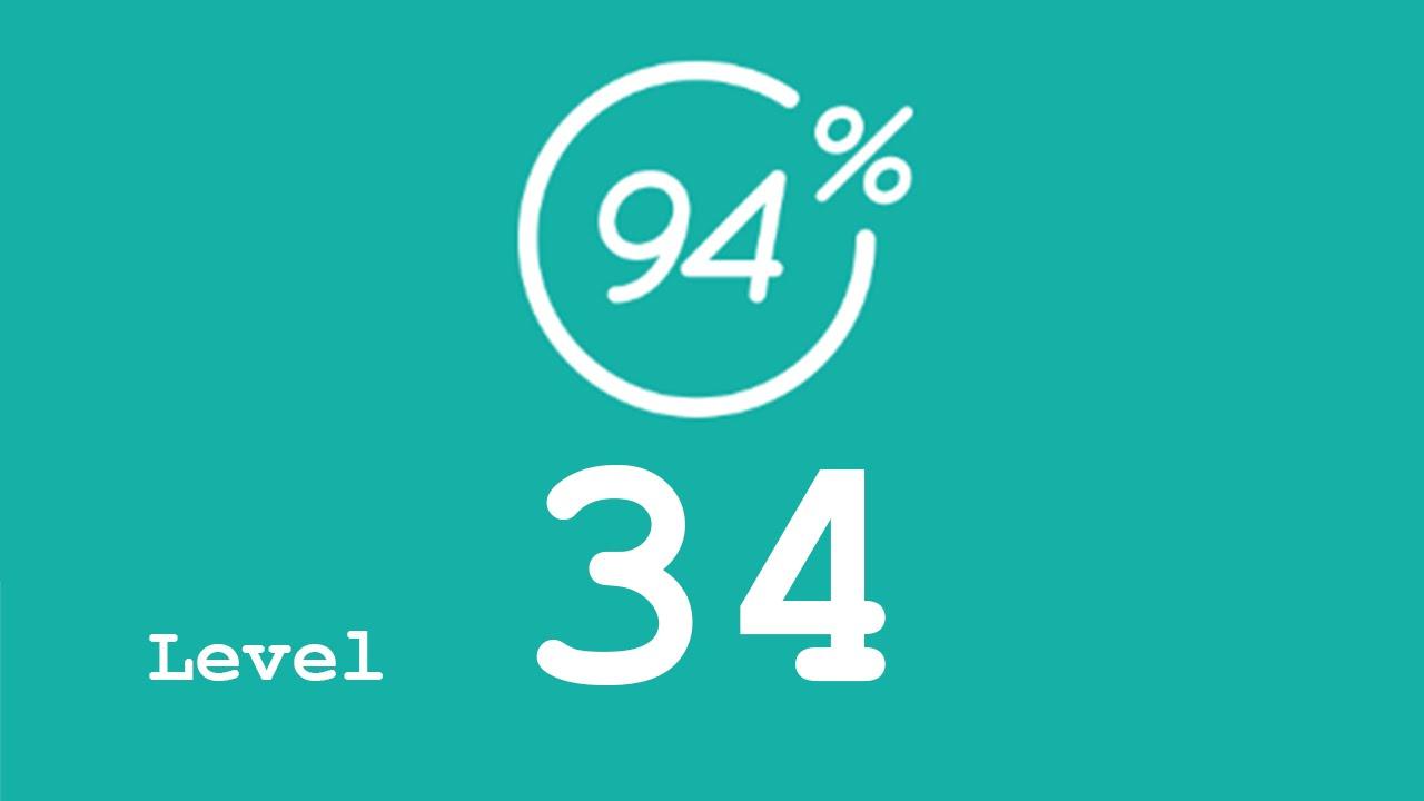Fesselnd 94 Prozent (94%)   Level 34   Frankreich   Lösung