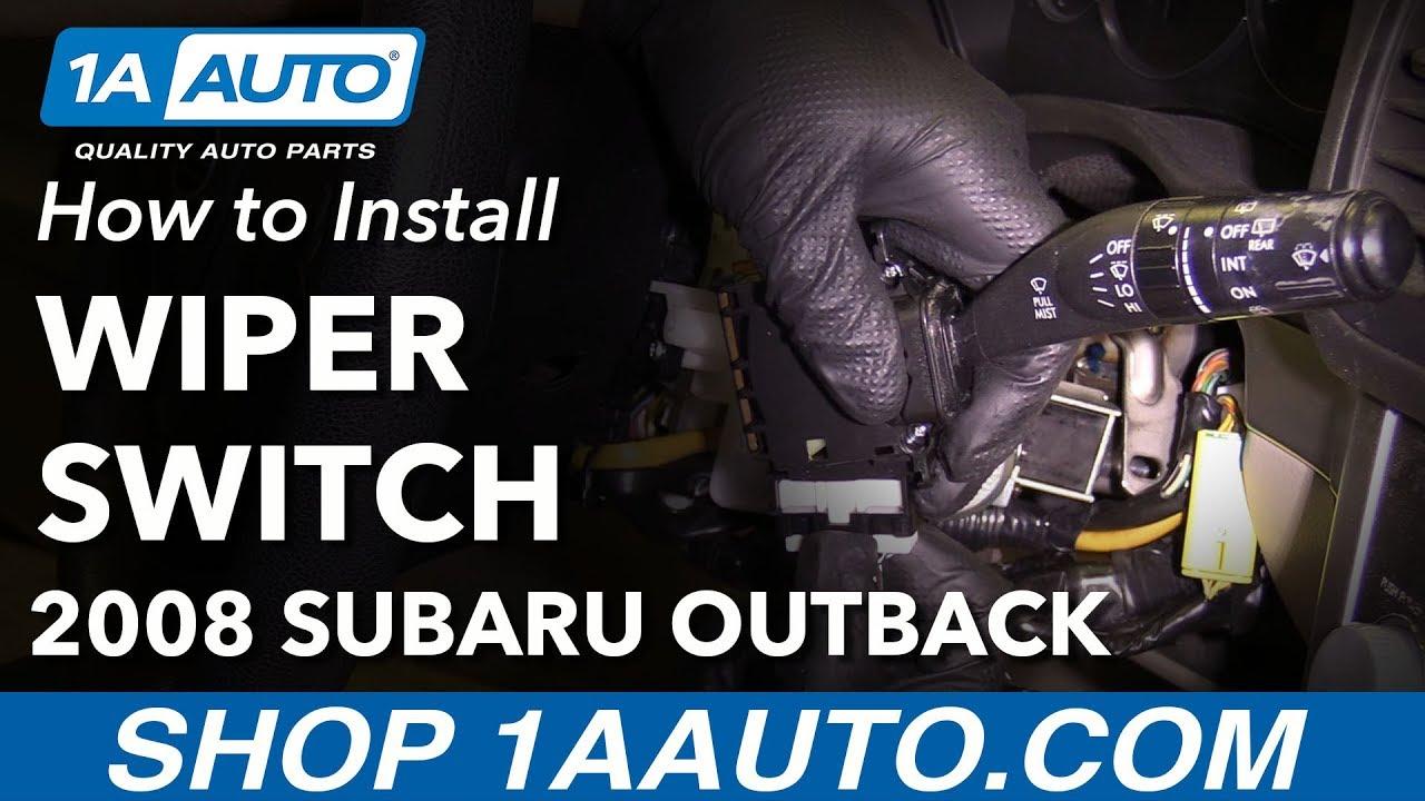 How To Install Replace Windshield Wiper Switch 2008 Subaru Outback Rear Window Defroster Relay