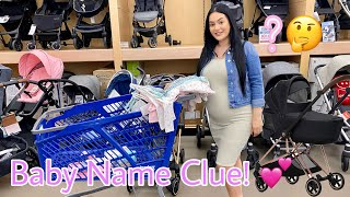First Time Baby Shopping 👸 Baby Name Clue 💕 Vlogmas #5