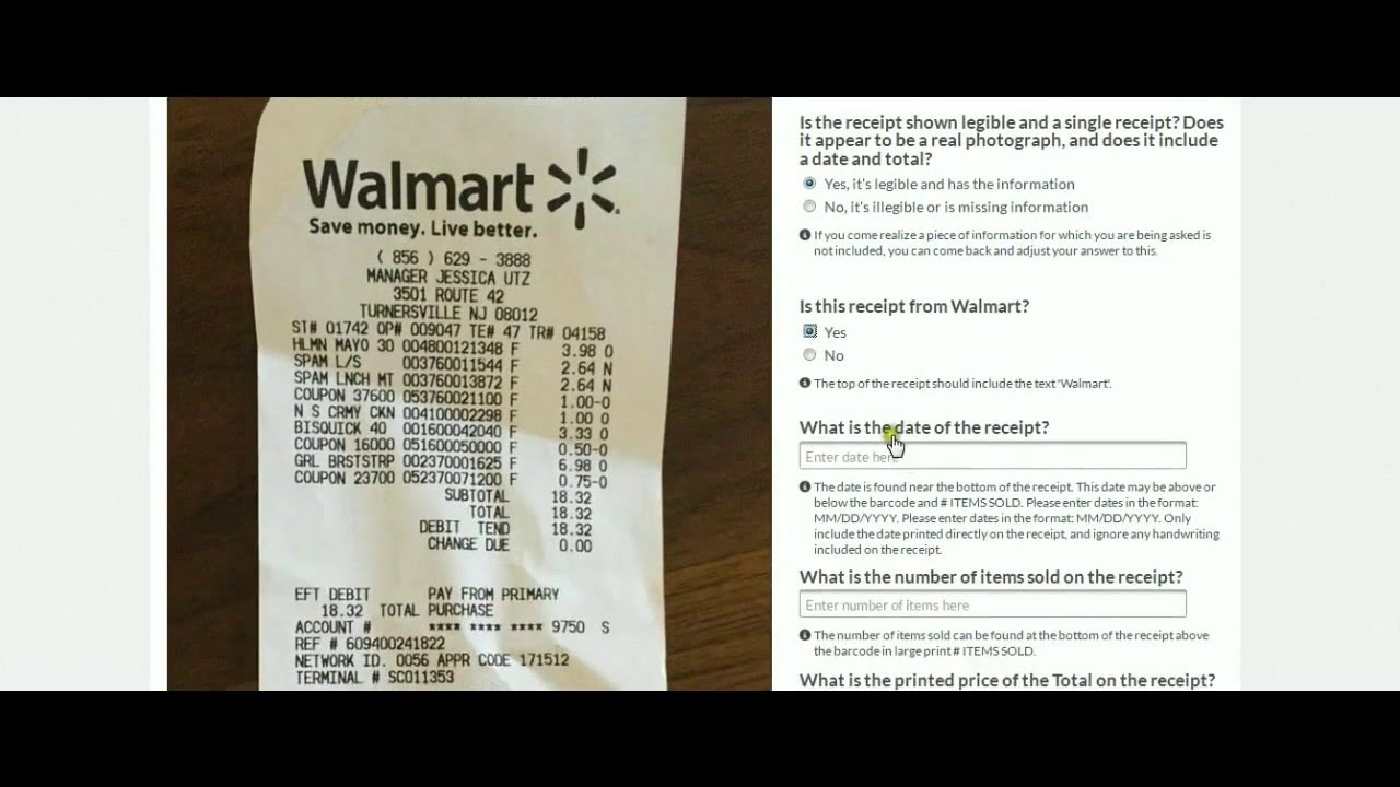 Transcribe Information From A Receipt (Walmart):how to do ...