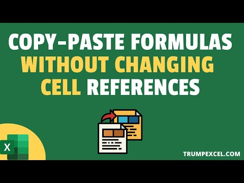 How to Copy Formulas Without Changing Cell References in Excel