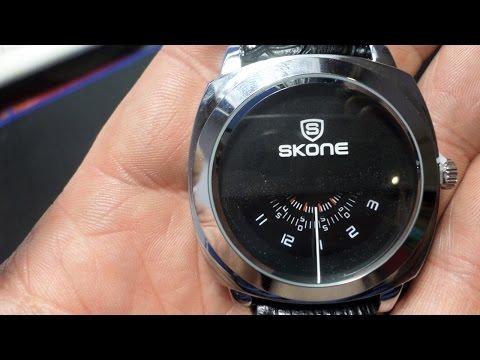 Оригинальные часы SKONE 9244: одна стрелка и три циферблата