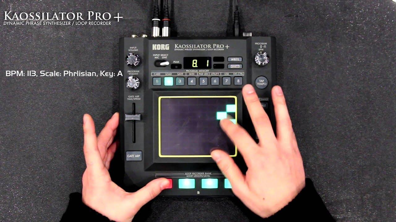 KAOSSILATOR PRO+ - DYNAMIC PHRASE SYNTHESIZER/LOOP RECORDER | KORG