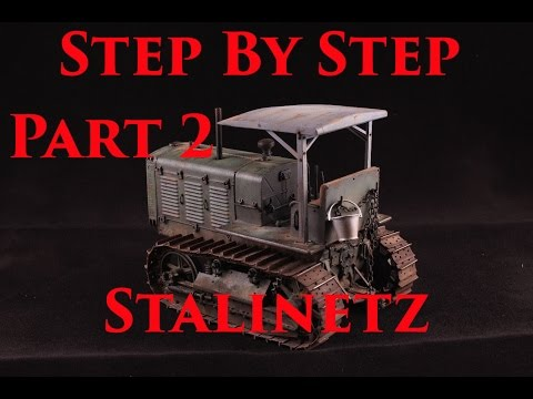 Building, Painting and Weathering Trumpeter 1/35 ChTZ-65 Tractor Part 2/3