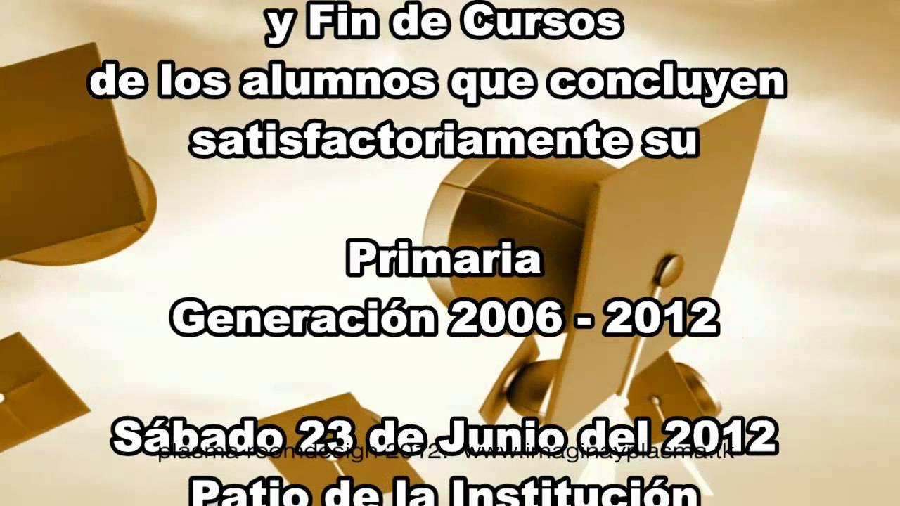 Invitación Colegio Cristóbal Colón Primaria 2012 01 Youtube