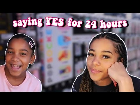 Only Saying YES To My Little Sister For 24 Hours | Azlia Williams