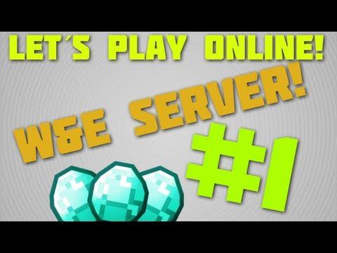 Let's play Minecraft online #1 West And East Minecraft Server! (Svenska)