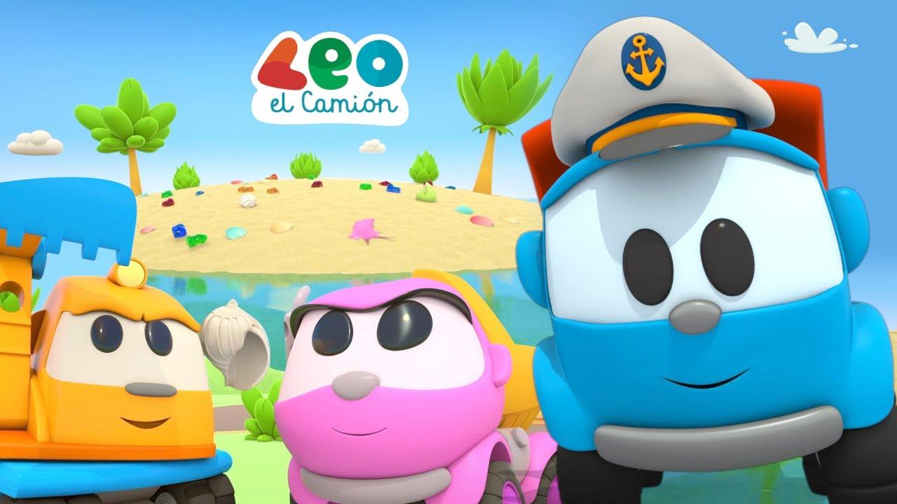 Leo el Camión - Leo y sus amigos viajan en ferry a una isla desierta