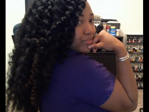 Long Pre-Dipped Crochet Braids Using Marley Hair - YouTube