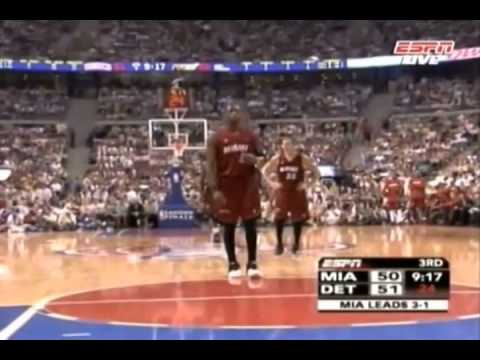 Dwyane Wade 23 pts, 4 ast, 3 blk vs. Pistons (2006 ECF) Game 5