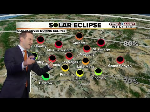 13 First Alert Las Vegas Weather Forecast for August 21 including eclipse forecast