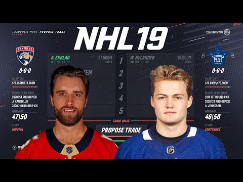 WHAT IT WOULD COST EACH NHL TEAM TO TRADE FOR NYLANDER - NHL 19