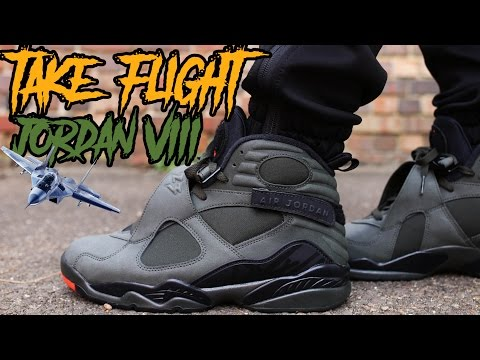 """COP OR NOT ? JORDAN 8 """" TAKE FLIGHT """" REVIEW AND ON FOOT IN 4K !!!!"""