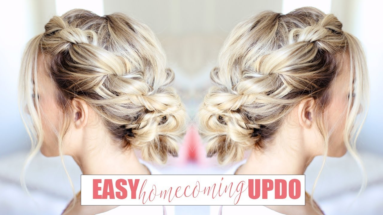 easy homecoming updo | twist me pretty