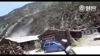 实拍地震瞬间,整座山都在跑啊