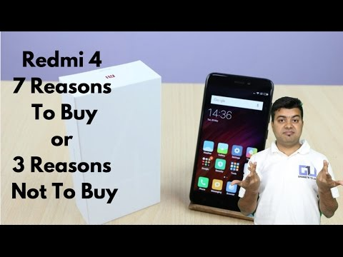 Xiaomi Redmi 4 India 7 Reasons To Buy, 3 Not To Buy and Giveaway | Gadgets To Use