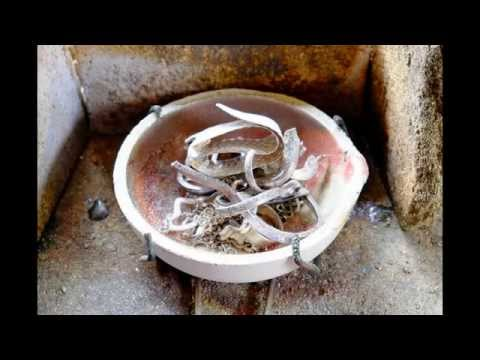 Melting old silver jewellery