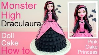 Halloween Monster High Draculaura Doll Cake How To By Pink Cake Princess