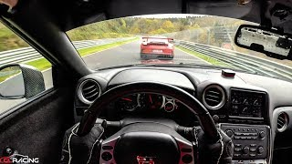 POV : Nissan GTR GL RACING 7:28 BTG with traffic / Nordschleife Nurburgring 30.10.17