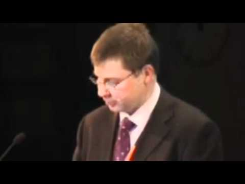 Valdis Dombrovskis, Prime Minister, Latvia at Baltic Development Forum Summit in 2009, Stockholm