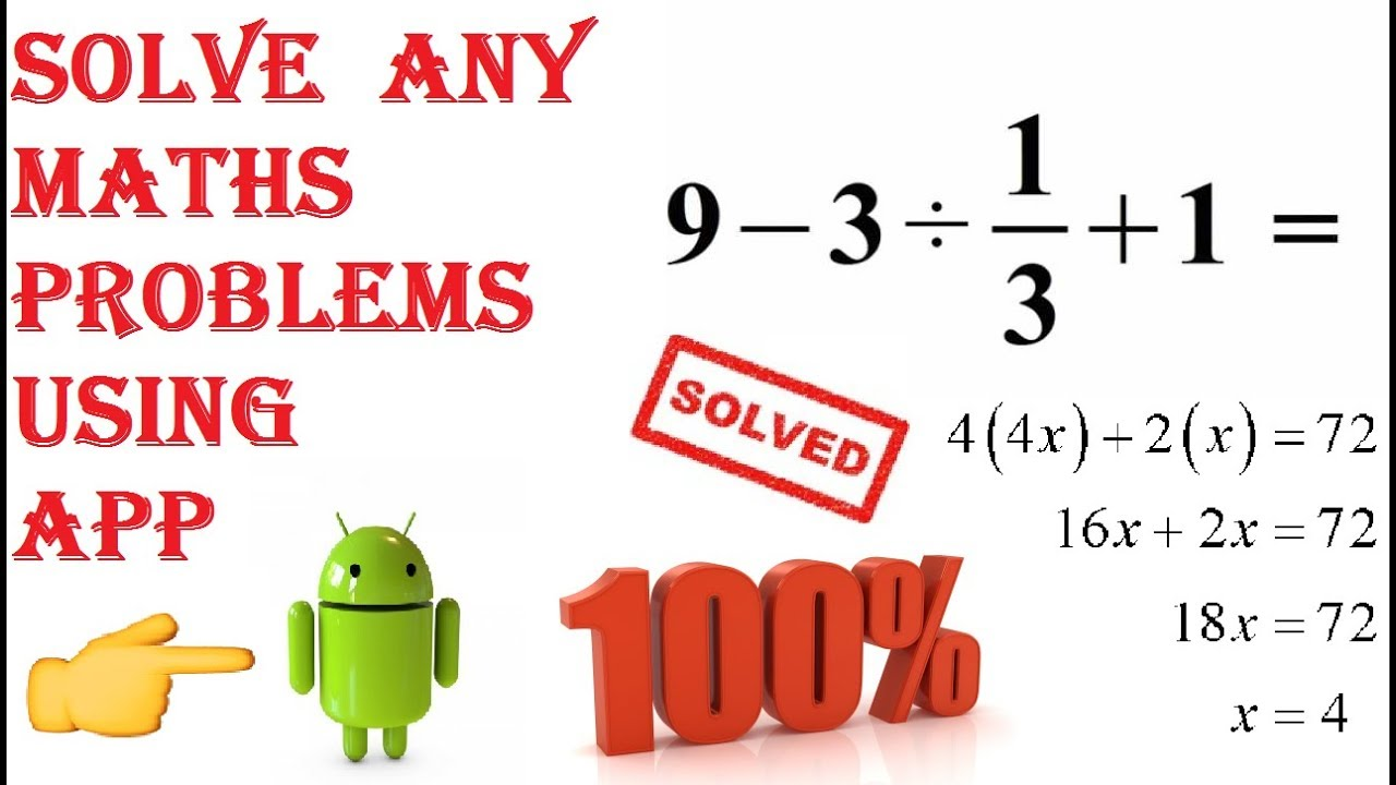 solve the math problem The fraction adds another hurdle to this problem, too suddenly, what was once a simple equation now looks like a numerical nightmare (the internet can't solve this third-grade math problem.