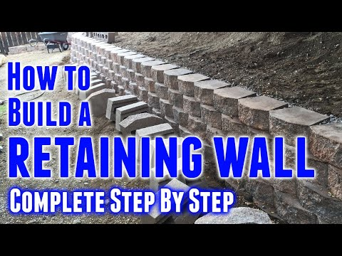 How To Build Retaining Wall Step