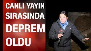 CNN TÜRK muhabiri ve kameramanı Van'da canlı yayında 5,9'luk depreme yakalandı