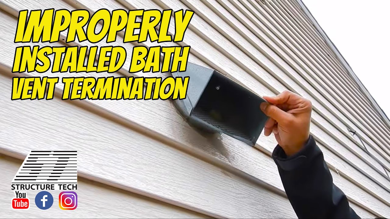 Improperly installed bath vent termination St Paul Home