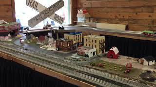 Model train at the Mohegan-Pequot Model Railroad Club's clubhouse